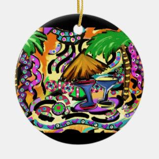 Beach Party Ceramic Ornament