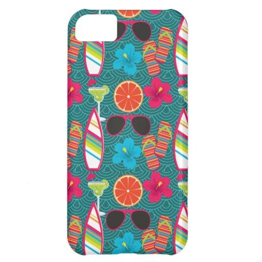 Beach Party Flip Flops Sunglasses Beach Ball Blue iPhone 5C Case