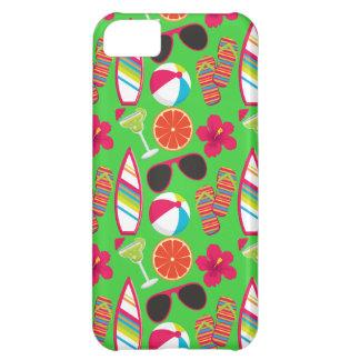 Beach Party Flip Flops Sunglasses Beach Ball Green iPhone 5C Cases