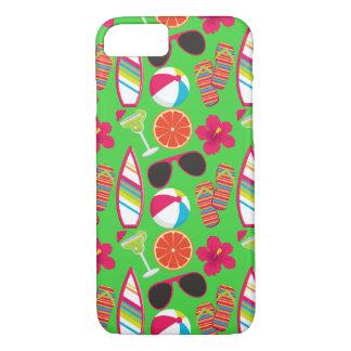 Beach Party Flip Flops Sunglasses Beach Ball Green iPhone 7 Case