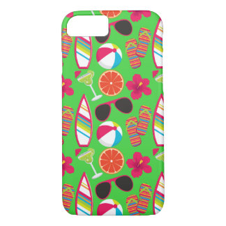 Beach Party Flip Flops Sunglasses Beach Ball Green iPhone 8/7 Case