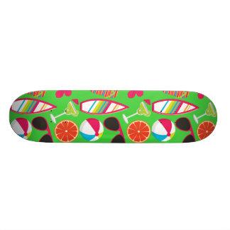 Beach Party Flip Flops Sunglasses Beach Ball Green Skate Board Decks