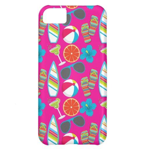 Beach Party Flip Flops Sunglasses Beach Ball Pink iPhone 5C Cases