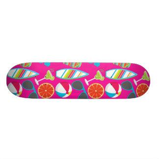 Beach Party Flip Flops Sunglasses Beach Ball Pink Skate Decks