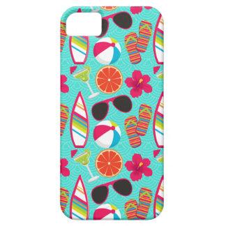 Beach Party Flip Flops Sunglasses Beach Ball Teal iPhone 5 Cases
