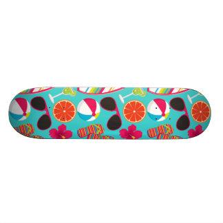 Beach Party Flip Flops Sunglasses Beach Ball Teal Skateboard
