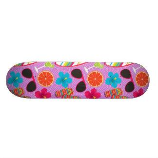 Beach Party Flip Flops Sunglasses Beachball Purple Skate Boards