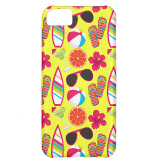 Beach Party Flip Flops Sunglasses BeachBall Yellow iPhone 5C Cases