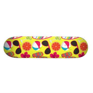 Beach Party Flip Flops Sunglasses BeachBall Yellow Custom Skateboard