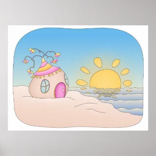 Beach Party House Print