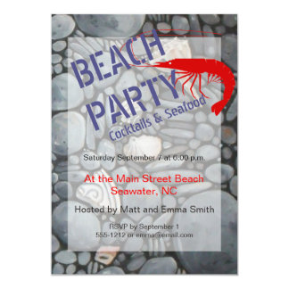 Beach Party Invitation Customizable Template