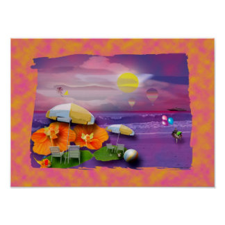 Beach party print