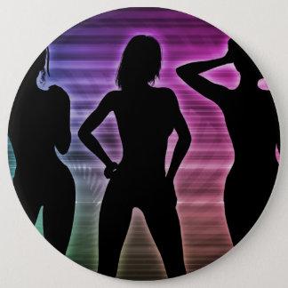 Beach Party Silhouette of Women Standing in Bikini 6 Cm Round Badge