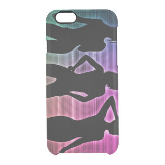 Beach Party Silhouette of Women Standing in Bikini Clear iPhone 6/6S Case