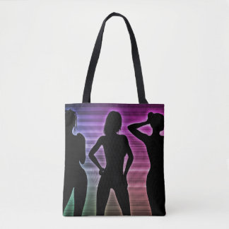 Beach Party Silhouette of Women Standing in Bikini Tote Bag