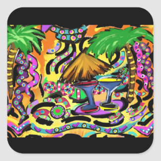 Beach Party Square Sticker
