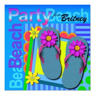 Beach Party - Summer Fun Flip Flops Card