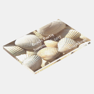 Beach Party Summer of 2017 Tropical Sea Shells Guest Book