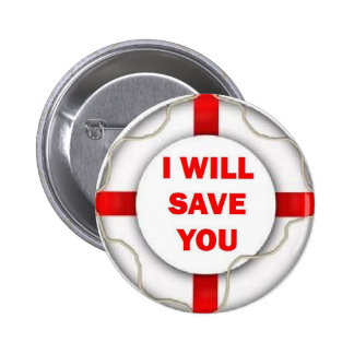 Beach Patrol I will Save You 6 Cm Round Badge