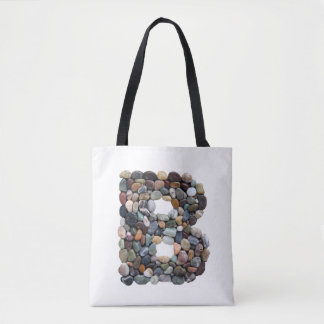Beach Pebble Letter B Tote Bag