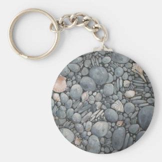 Beach Pebbles Rocks River Key Ring