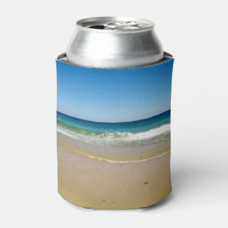 Beach photo can cooler