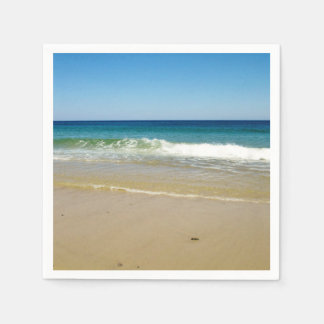 Beach photo paper napkins