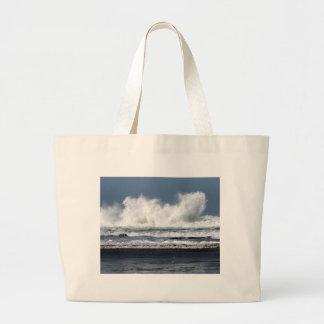 Beach photo printed on tote bag