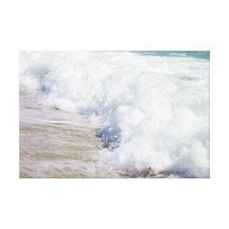 Beach Photography Coastal Art  Sea Wave Canvas Print