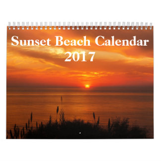 Beach Pictures at Sunset 2017 Wall Calendars