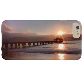 Beach pier at sunset, Hawaii Barely There iPhone 6 Plus Case