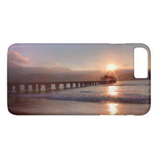 Beach pier at sunset, Hawaii iPhone 7 Plus Case