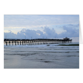 Beach Pier Note Card