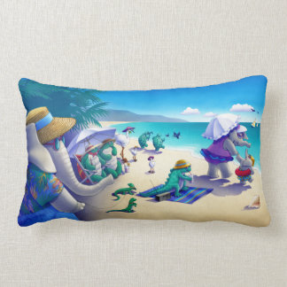 Beach Pillow- fauna and colorful! Lumbar Cushion