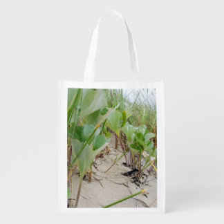 Beach plants summer reusable grocery bag