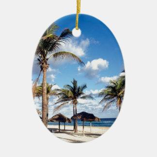 Beach Playas Cuba Ceramic Ornament