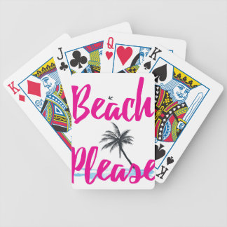 beach please bicycle playing cards