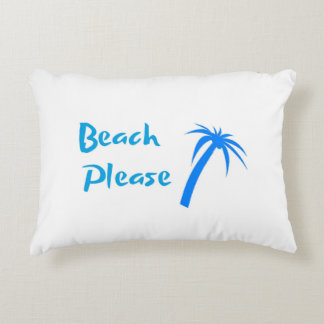 "Beach Please Brushed Polyester Pillow 16"" x 12"""