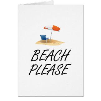 Beach Please Card