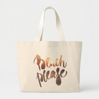 BEACH PLEASE | Fun Typography & Quote tote Bag