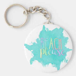 Beach Please Key Ring