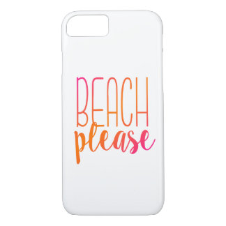 Beach Please | Pink and Orange Ombre Case