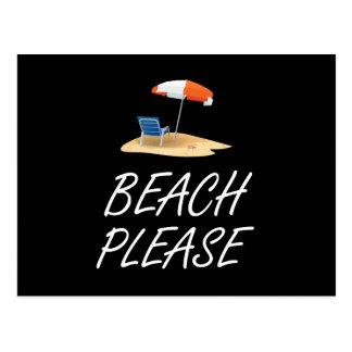 Beach Please Postcard
