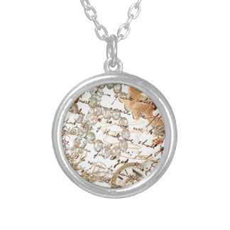 Beach Please Silver Plated Necklace