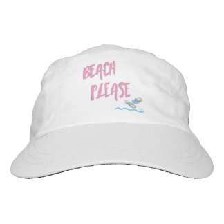 Beach Please Tropical Summer Vacation Cool Pink Hat