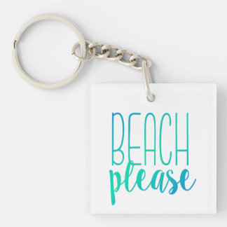 Beach Please | Turquoise Ombre Keychain