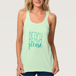 Beach Please   Turquoise Ombre Tropical Tank