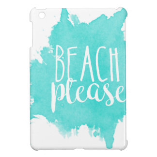 Beach Please White iPad Mini Cases