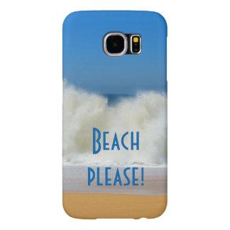 Beach Please! with Crashing Waves, phone case