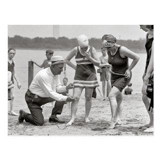 Beach Police, 1922 Postcard
